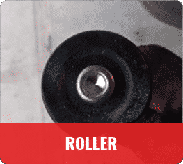 garage door roller off track